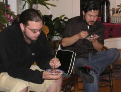 Eugene & John enjoying cobbler