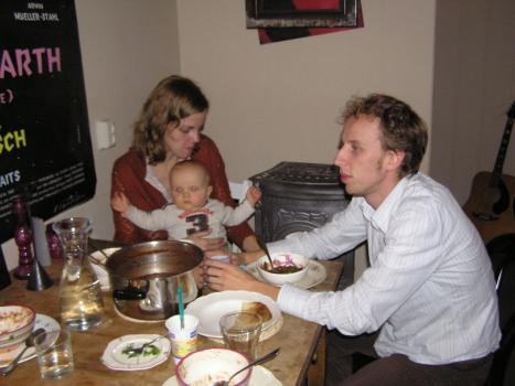 Frank Marika and their son