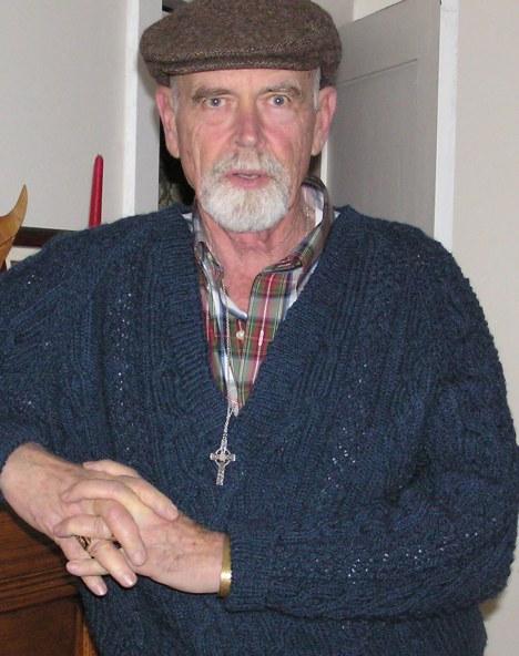 Tom's new Aran sweater