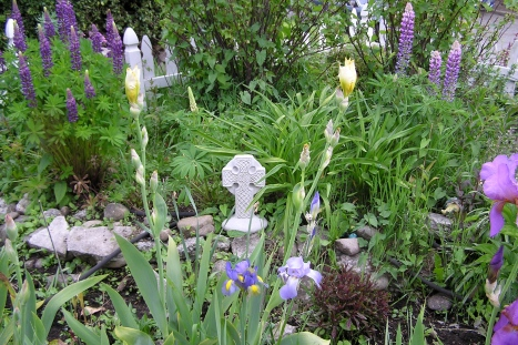 Celtic cross in the garden
