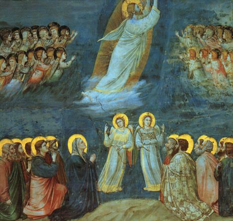 Giotto Ascension of Christ via Wikimedia commons