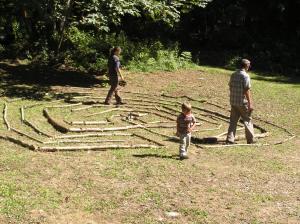 Walking the labyrinth - Celtic retreat 2010