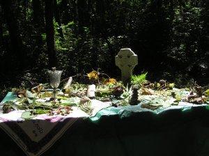 Celtic retreat altar