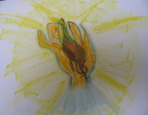 Daffodil rooted in hand; My life an embodied prayer.