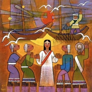 Jesus Calling the Disciples by He Qi