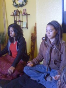 Group practicing contemplative Prayer