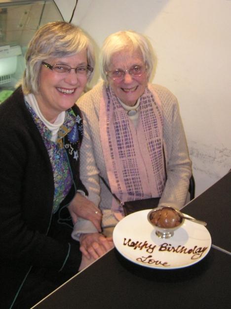 Celebrating my mother's 88th birthday