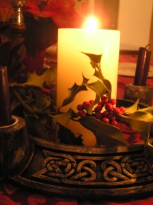 Pillar candle from Advent wreath