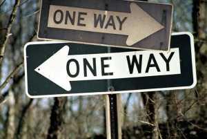 one way?