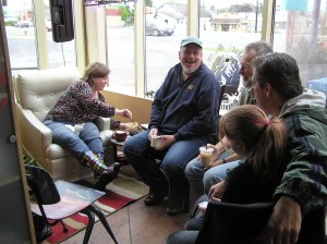Gathering at Romana Lee Cafe in Stanwood