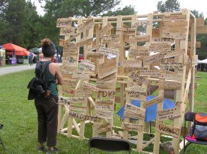 Grievance wall Wild Goose festival