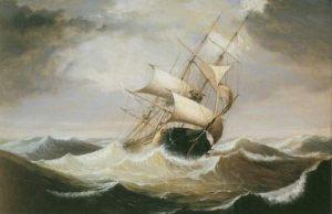 Three_Master_in_Rough_Sea_by_Fitz_Hugh_Lane
