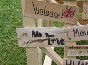 Grievance wall at Wild Goose Festival