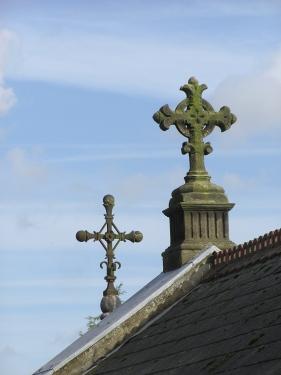 Crosses on rooftop - (c) Christine Sine