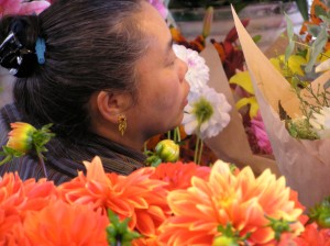 Flower seller - Pike Place market