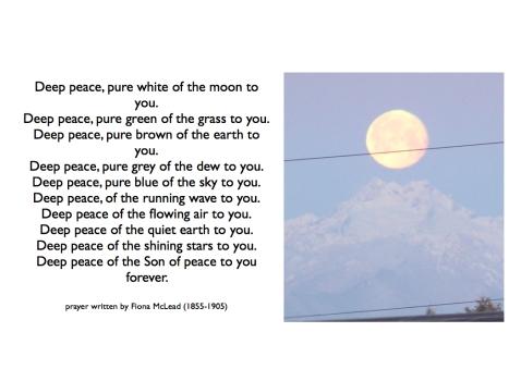 Deep peace - prayer.