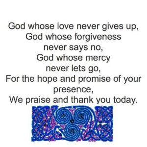 God whose love never gives up