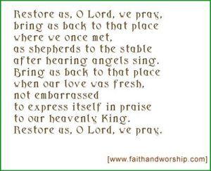 Restore us O Lord - John Birch
