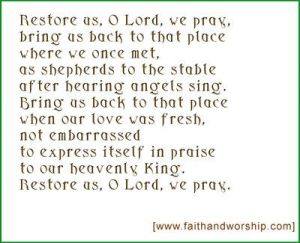 Restore us O Lord - John Birch