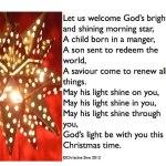 Let us welcome God's morning star – ChristineSine