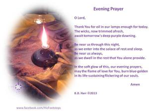 Evening prayer - Bonnie Harr