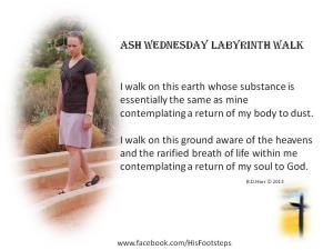 Ash Wednesday Labyrinth walk