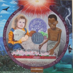 Wealth and poverty - Mural Sheffield Tasmania