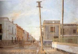 Street of Santa Rita, oil on canvas, 1961 by Antonio Lopez Garcia.Accessed from http://www.artelibre.net