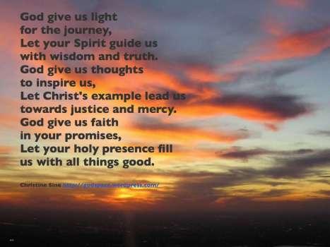 God give us light for the journey.001