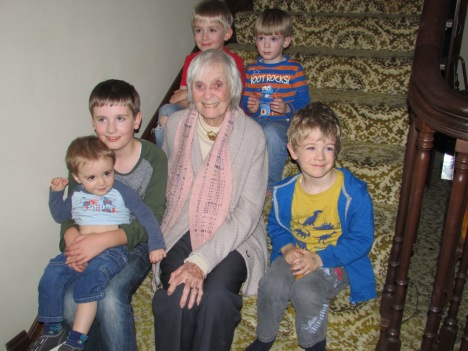 Mum with her great grandkids