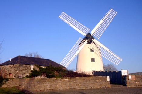 of Llynnon Mill - the only working mill on Anglesey today. Adam's Mill would have looked similar to this one in 1904.